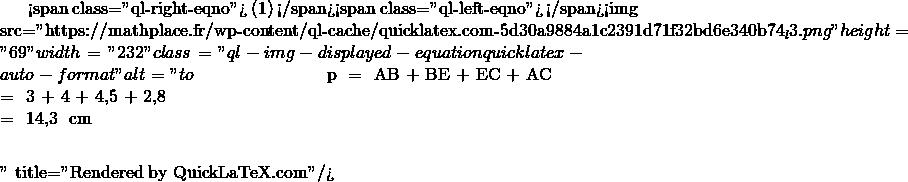 Mathplace quicklatex.com-3c6454877e7118328e18f4a621c97a01_l3 Exercice 6 : Périmètre d'un quadrilatère