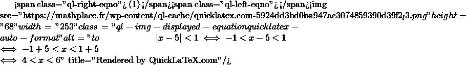 Mathplace quicklatex.com-4c2c0fa7bb182a3963adb784c215b3a1_l3 Exercice 3 : Résoudre les inéquations
