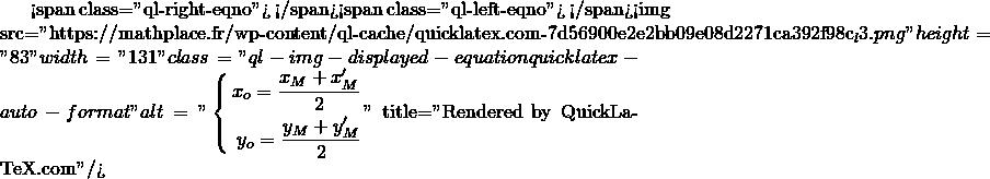 Mathplace quicklatex.com-574ab804f125f1c110ed0fe5d4fa773c_l3 Méthode 4 - Trouver les coordonnées du symétrique d'un point
