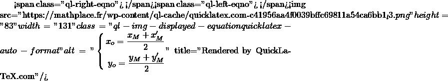 Mathplace quicklatex.com-aa17a862f68ec359278088dd6aced9fc_l3 Méthode 4 - Trouver les coordonnées du symétrique d'un point
