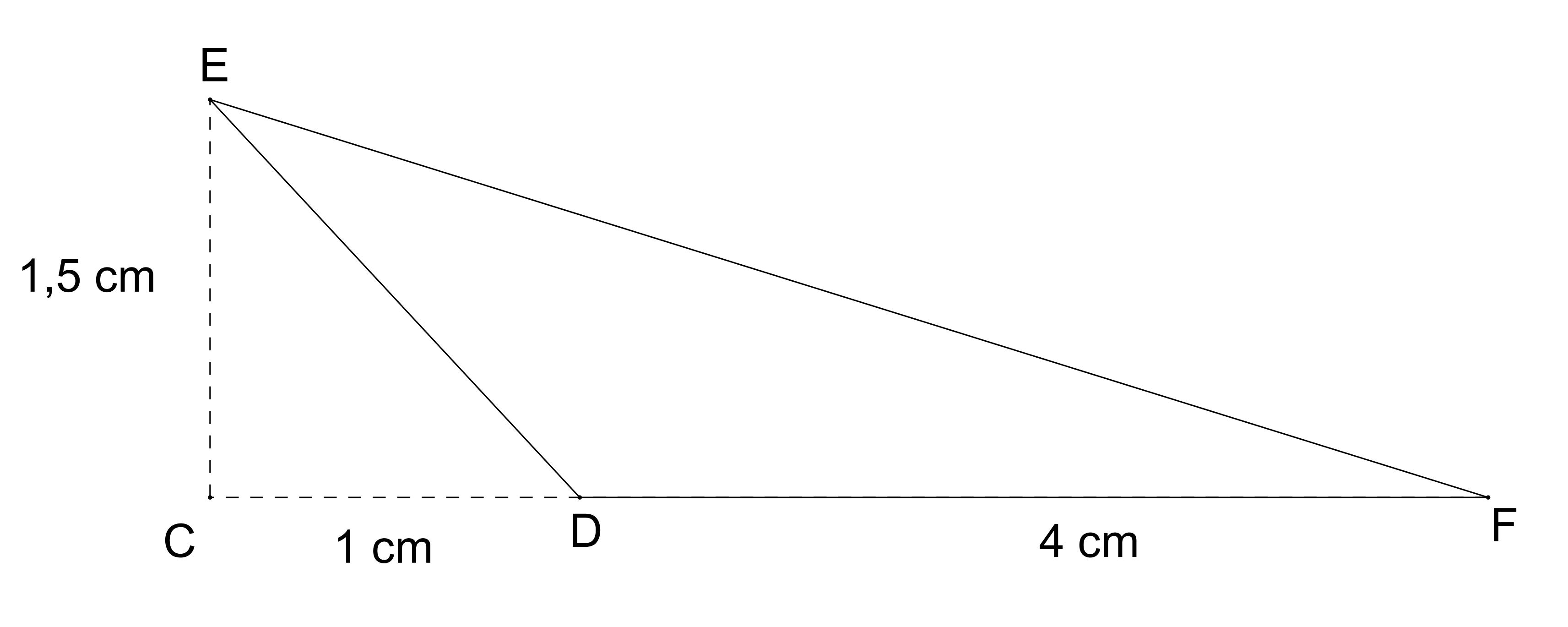 Mathplace exercice_5e_perimetre_aire-9-1 Exercice 4 : aire d'un triangle