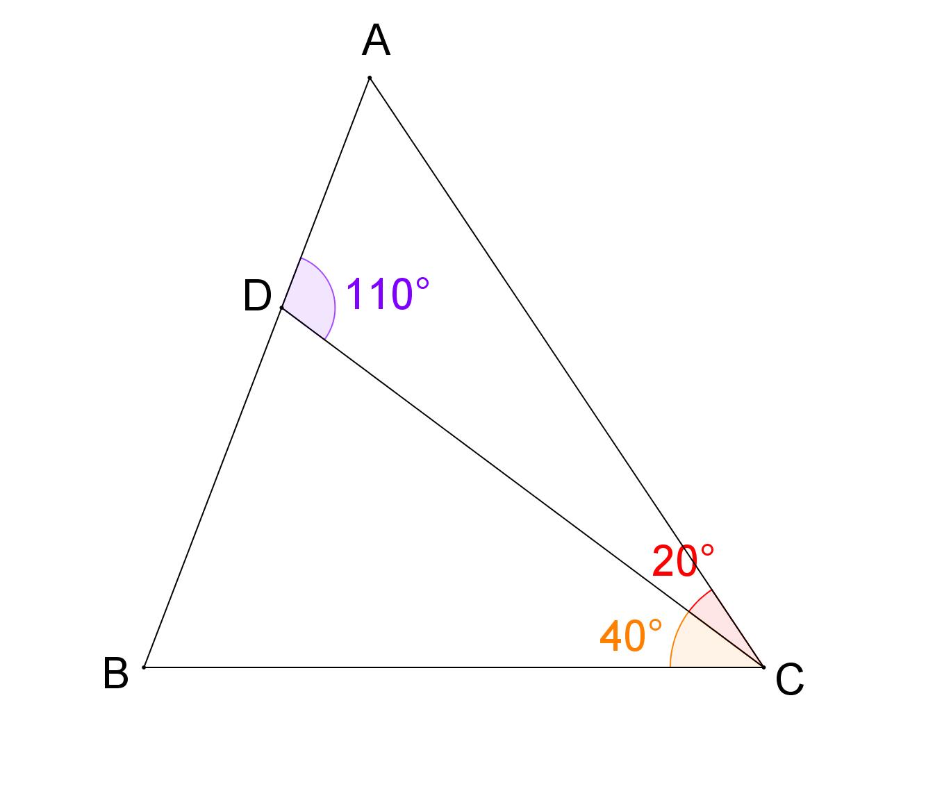 Mathplace exercice_5e_triangles02 Exercice 4 : angles d'un triangle