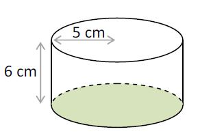 Mathplace exercice_5e_volume-5 Exercice 2 : volume du cylindre de révolution