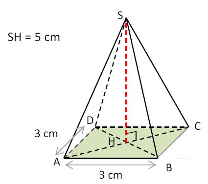 Mathplace exercice_5e_volume-7 Exercice 3 : volume de la pyramide