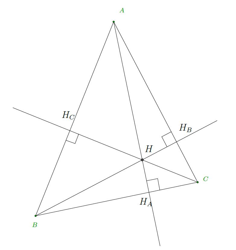 Mathplace exercice-geometrie-espace-5 Exercice 7 : orthocentre d'un triangle