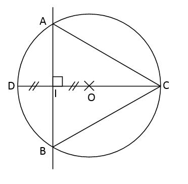 Mathplace exercice_6e_cercle-1 Exercice 3 : Triangle et cercle
