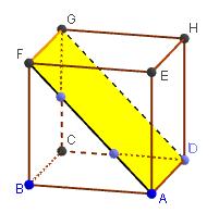 Mathplace figure-4-droites-et-plans Exercice 1 : Cube