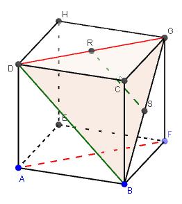 Mathplace figure-7-droites-et-plans Exercice 3 : Cube
