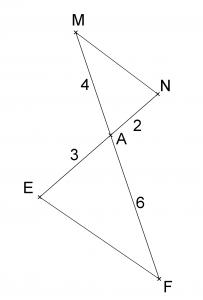 Mathplace exercice_3e_thales08-203x300 Exercice 1 : réciproque du théorème de Thalès